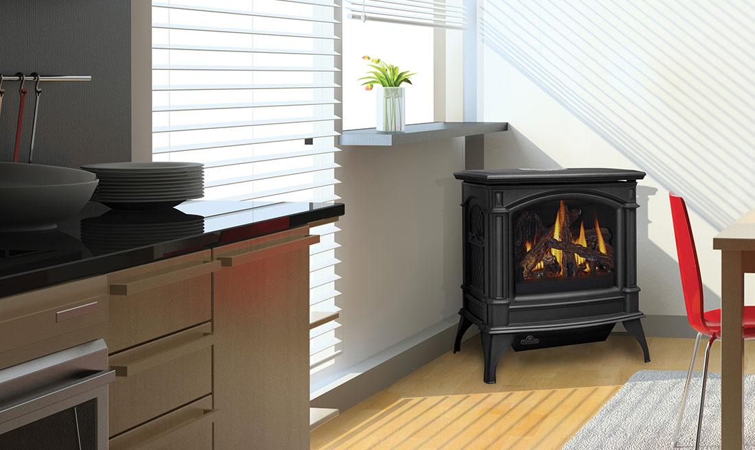 napoleon gvf60 1n knightsbridge vent free cast iron gas stove