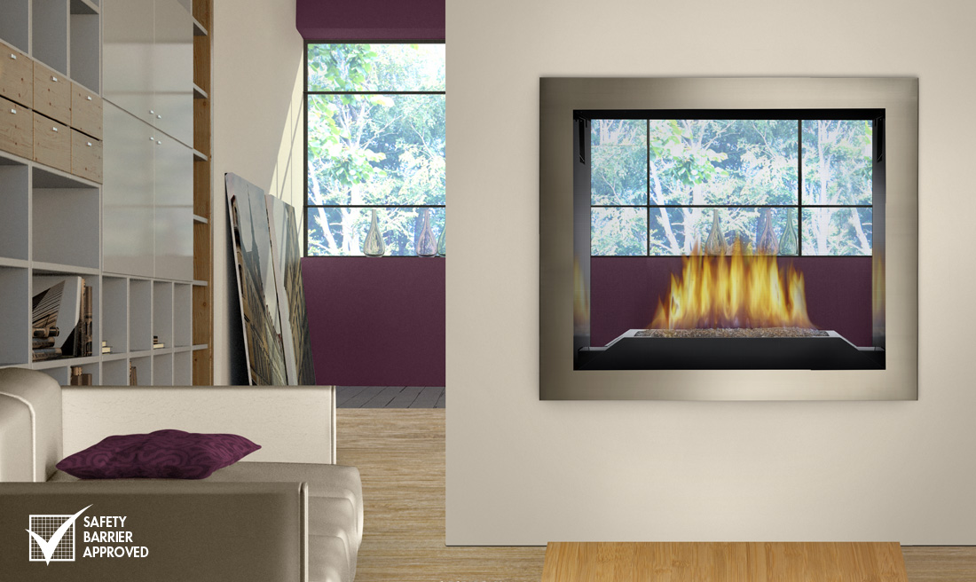 Fireplace Design see thru fireplace : NAPOLEON HD 81 SEE - THRU GAS FIREPLACE