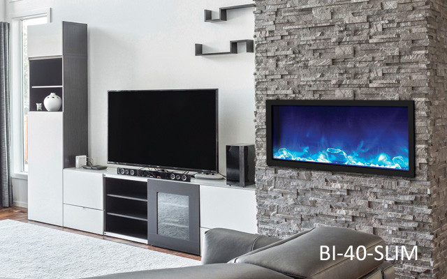 Amantii Bi 40 Slim Built In Electric Fireplace