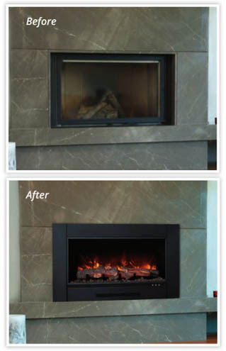 Modern flames zcr-3824 electric fireplace insert
