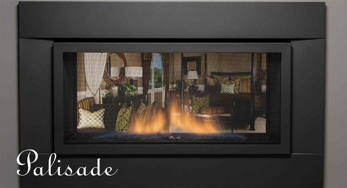 Gas Fireplace see thru gas fireplace : SIERRA FLAME PALISADE SEE-THRU DIRECT VENT LINEAR GAS FIREPLACE